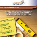 Bonus ristrutturazioni edilizie: pubblicata la nuova Guida delle Entrate aggiornata